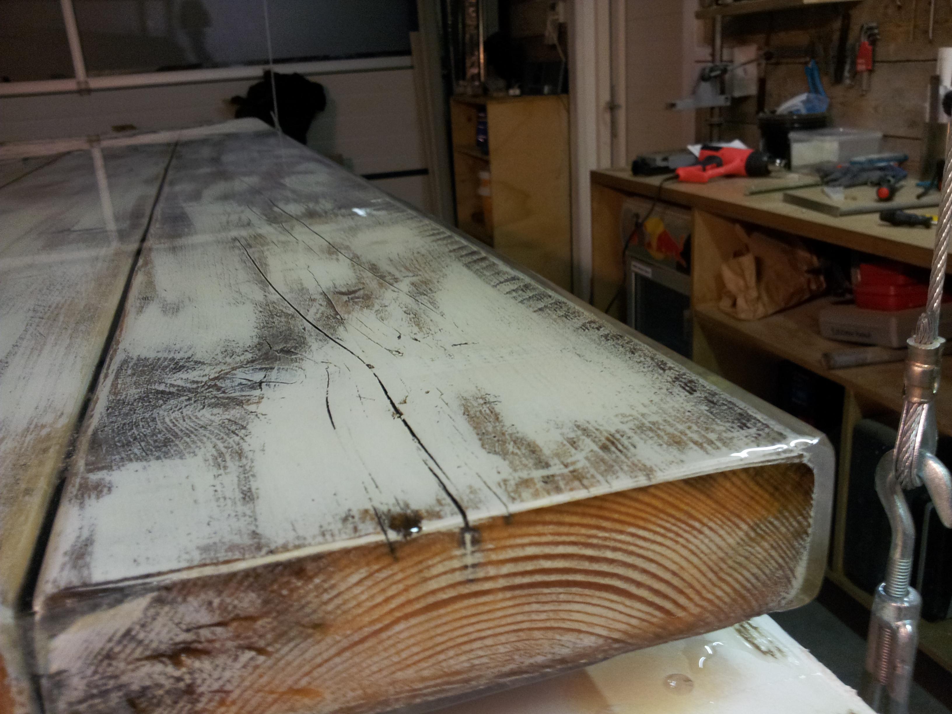 Ziltgetint maatwerk meubels met een vlielands tintje for Hout voor tafel