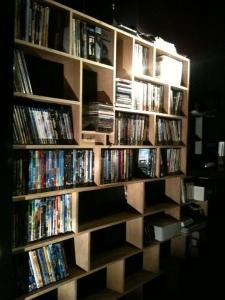 dvd - boeken kast